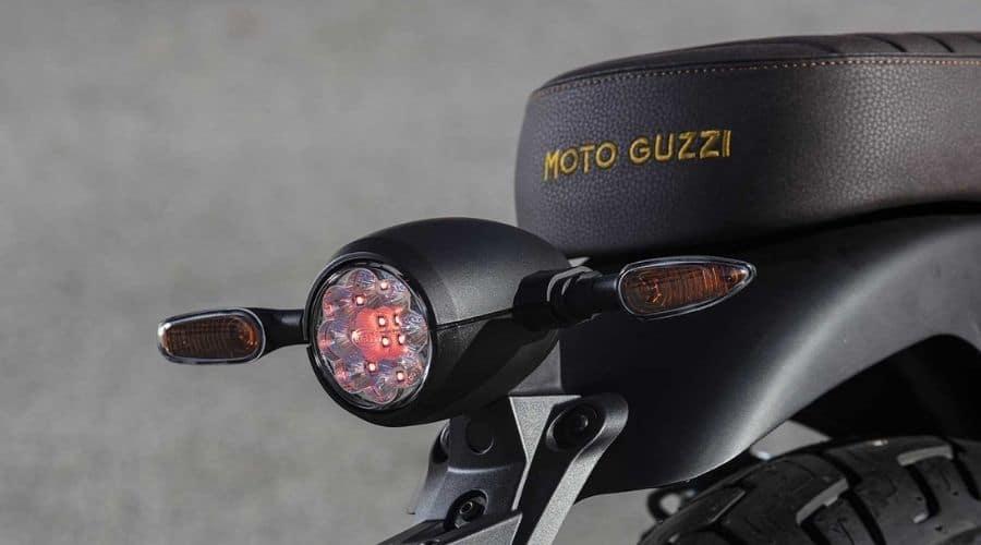 Motocicleta italiana Moto Guzzi hechas para durar